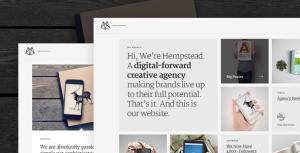Премиум шаблон для Вордпресс — Hempstead – Responsive WordPress Portfolio Theme