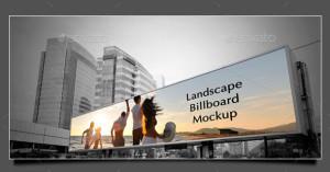Мокап для Фотошопа. Горизонтальный билборд
