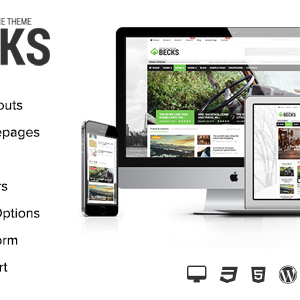Премиум шаблон для Вордпресс - Becks - WordPress News and Magazine Theme
