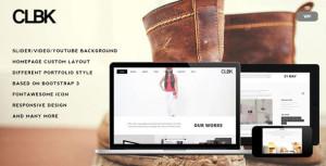 Премиум шаблон для Вордпресс — CLBK — Responsive One Page Portfolio Theme