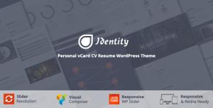 Премиум шаблон для Вордпресс — Identity — Personal vCard CV Portfolio WP Theme